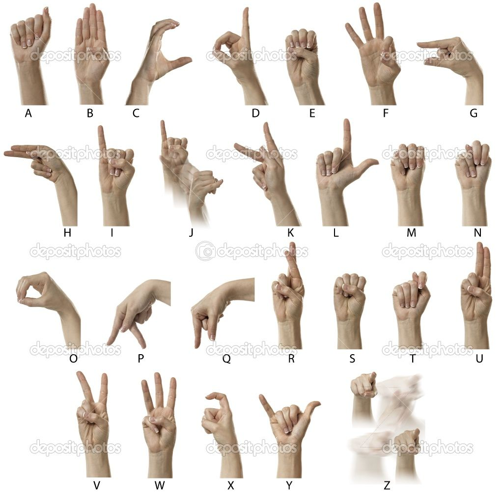 American Sign Language Alphabet I Learned This In Middle
