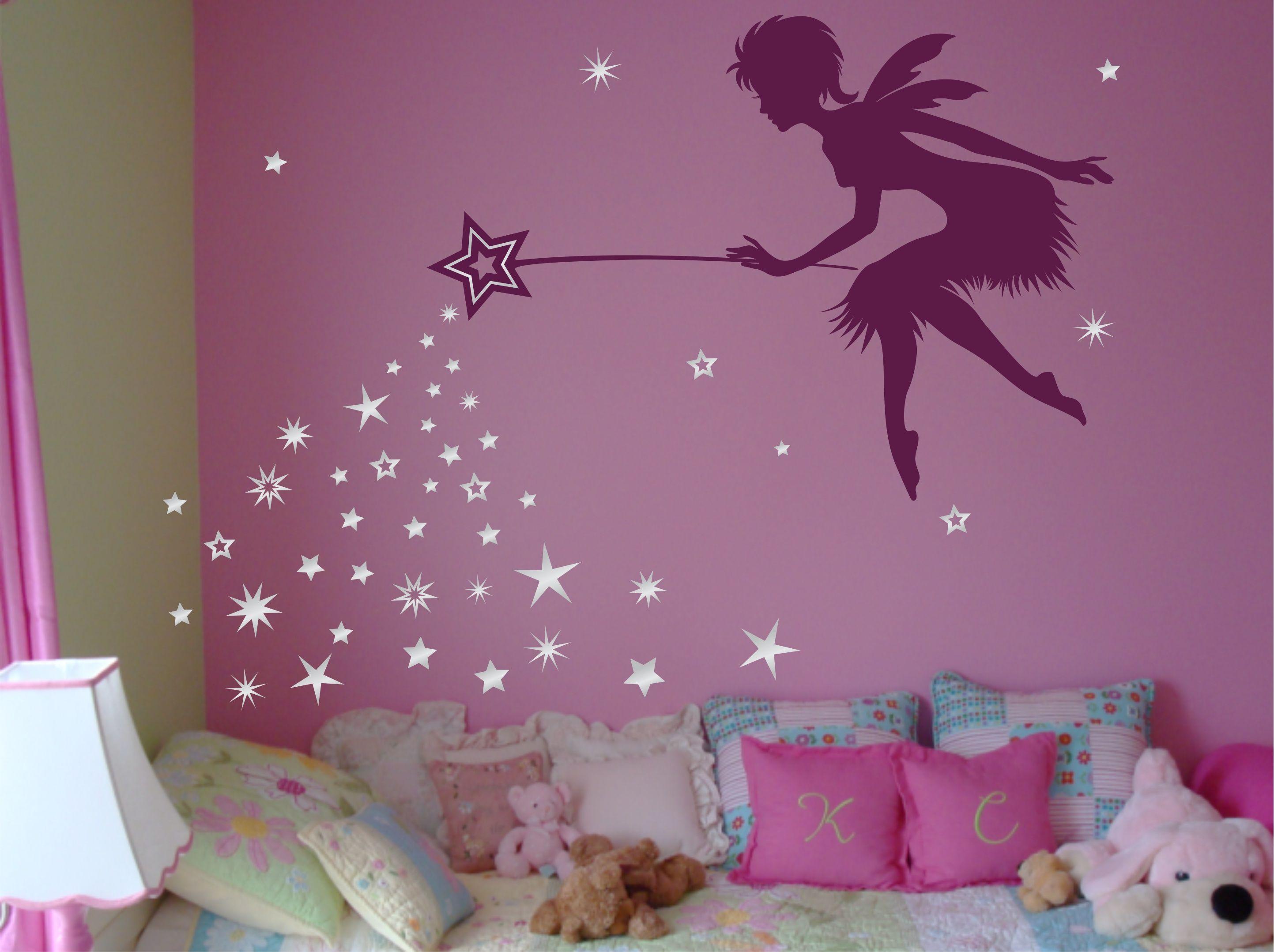 Fairy Art Fairy Decor Pixie Dust Star Wand Wall Decal Tinkerbell