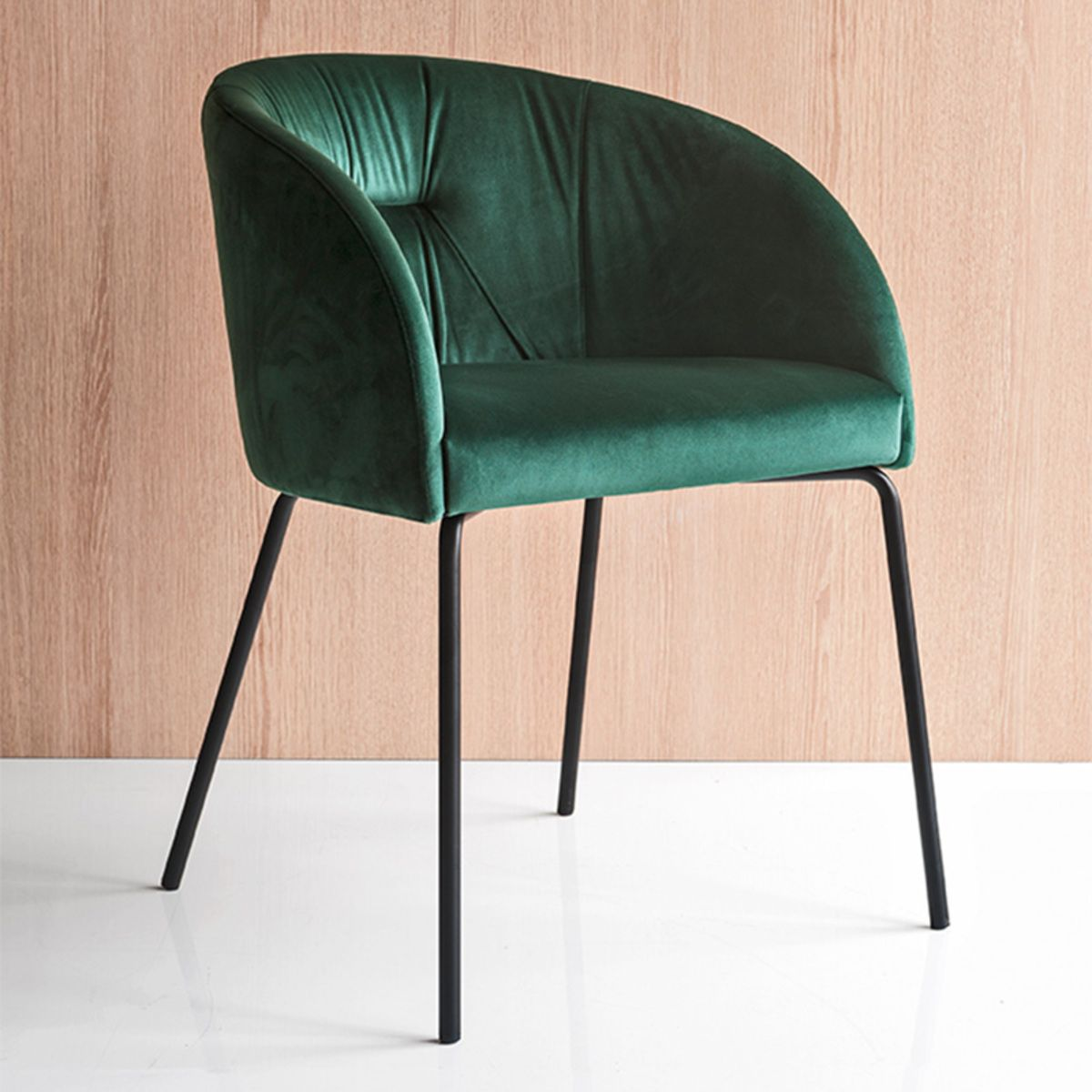 Chaise Salle A Manger Chaise Avec Accoudoirs Rosie Velours Vert