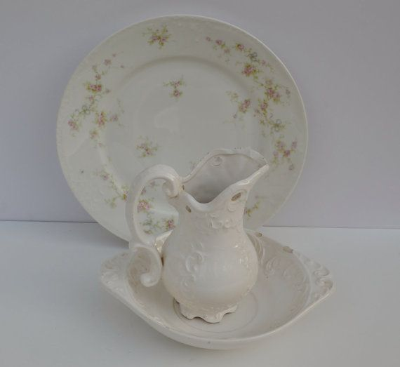 This would be a beautiful addition to your Christmas Decor Napcoware Pitcher with Basin White Porcelain by JudysJunktion, $24.00