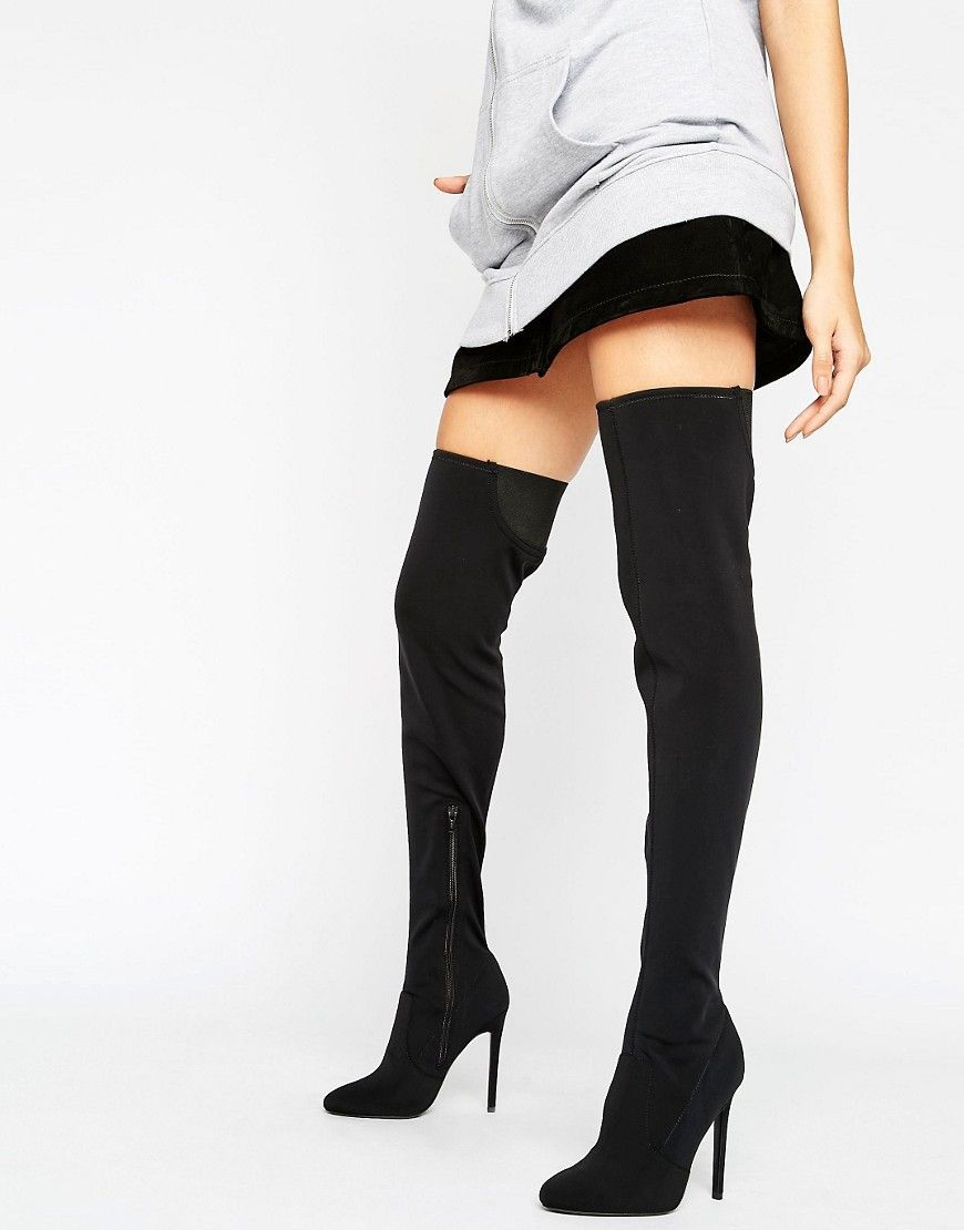 From China KAMBER Stretch Over The Knee Boots - Black Asos Buy Cheap Discount vdfLUBL