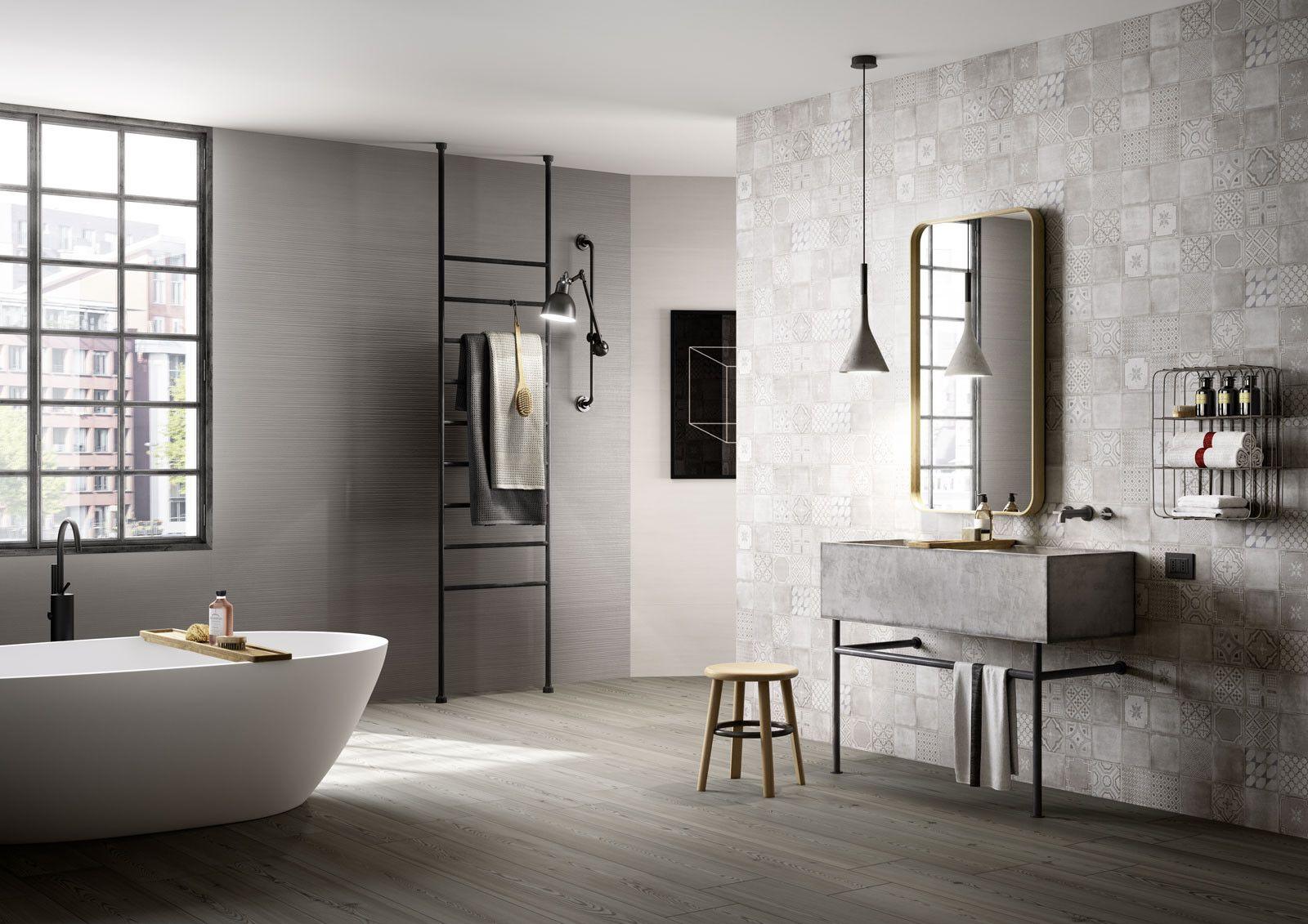 Marazzi #Materika Decoro Grey 40x120 cm MMJY | #Gres #tinta unita ...