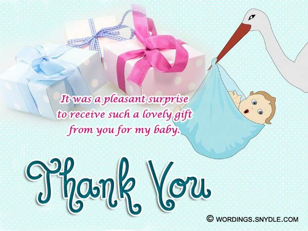 thank you for baby gift