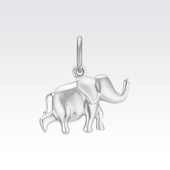 14k white gold elephant charm elephant jewelry pinterest white 14k white gold elephant charm aloadofball Images