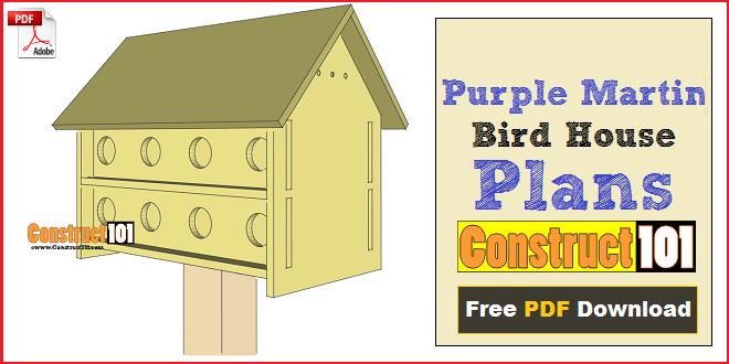 Purple Martin Bird House Plans 16 Unit Construct101 Bird House Plans Martin Bird House Martin Bird