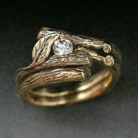 WoodlandTree Branch Engagement Ring Fashion Pinterest