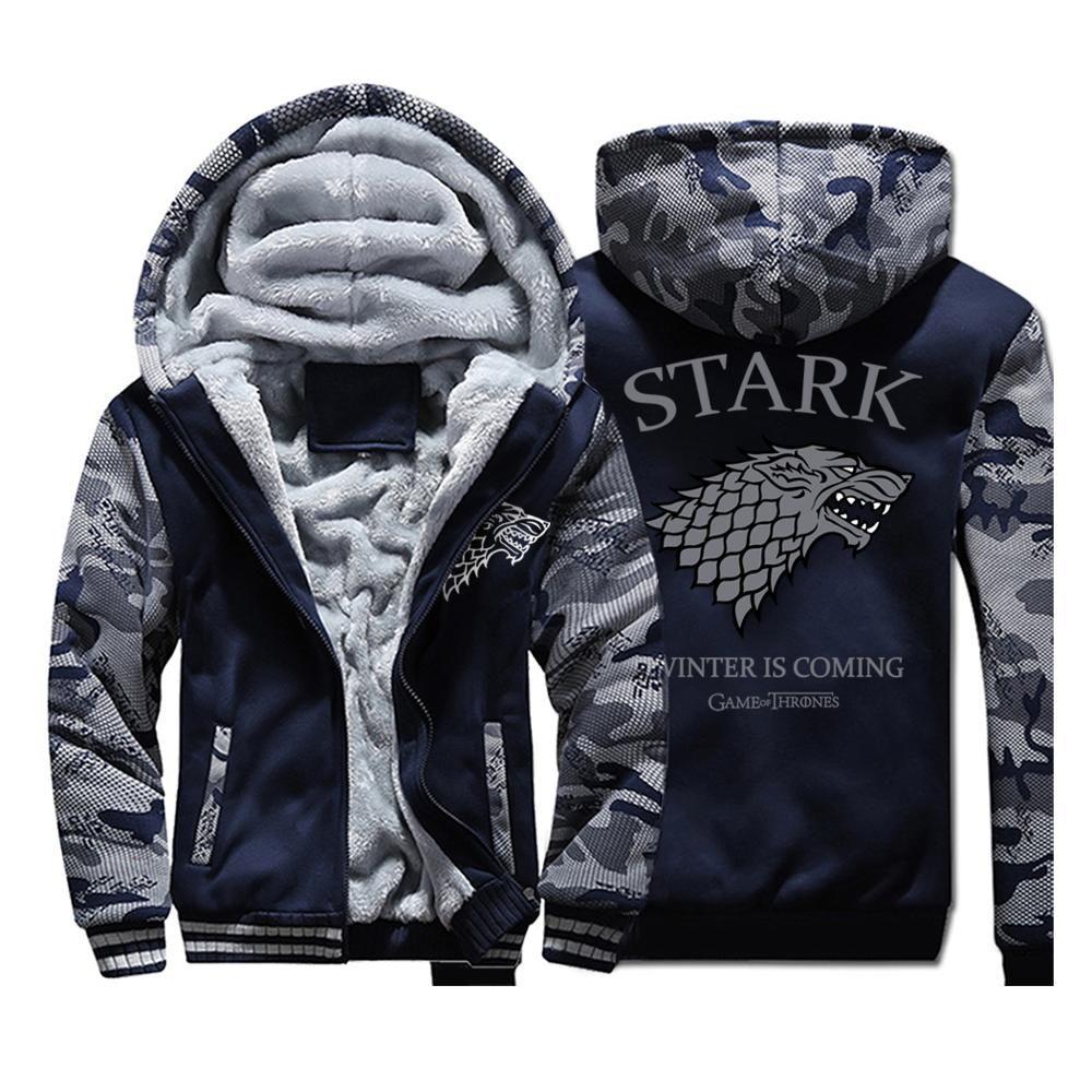 Us 27 85 28 64 Game Of Thrones House Stark Fashion Hoodies Mens Jackets 2019 Winter Warm Fleece High Quali Hoodies Men Hoodie Fashion Game Of Thrones Hoodie