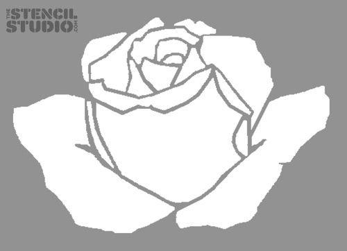 Stencil For Home Decorating. Summer Rose Flower Stencil