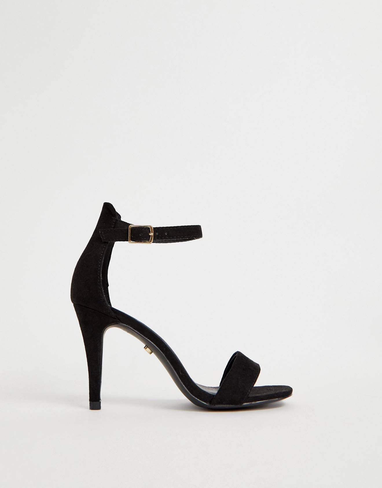 51a3c3e3dbb Oasis barely there heeled sandals in black in 2019 | Styles for Days ...