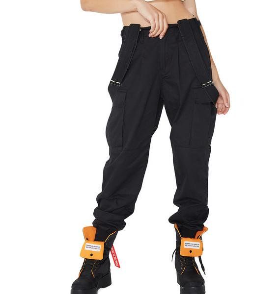 eb5f6725da9 Poster Grl Mind Ya Bizness Suspender Cargo Pants tell  em to stay in their  lane...these dope af cargo pants have a relaxed fit