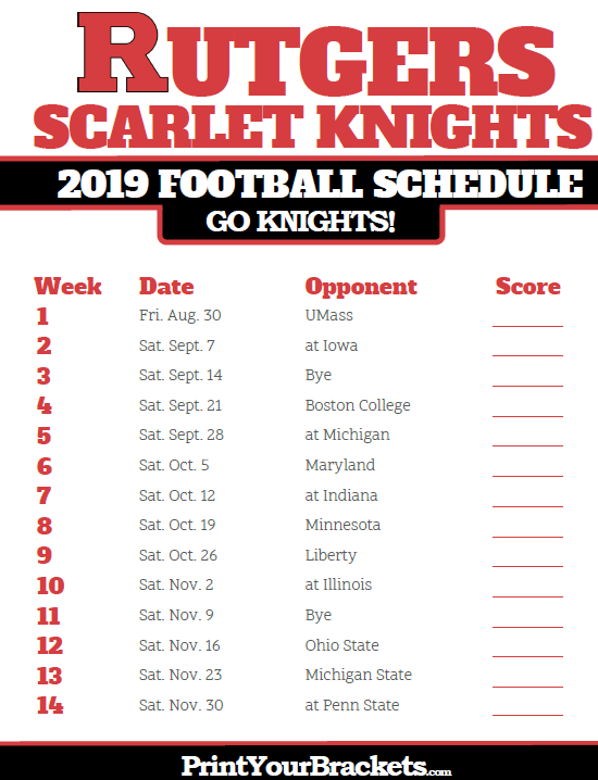 Pin By Mike Mcguire On Schedule Rutgers Scarlet Knights Rutgers Football