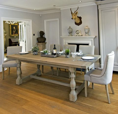 Montague Large Weathered Oak Rectangular Dining Table Oak Dining