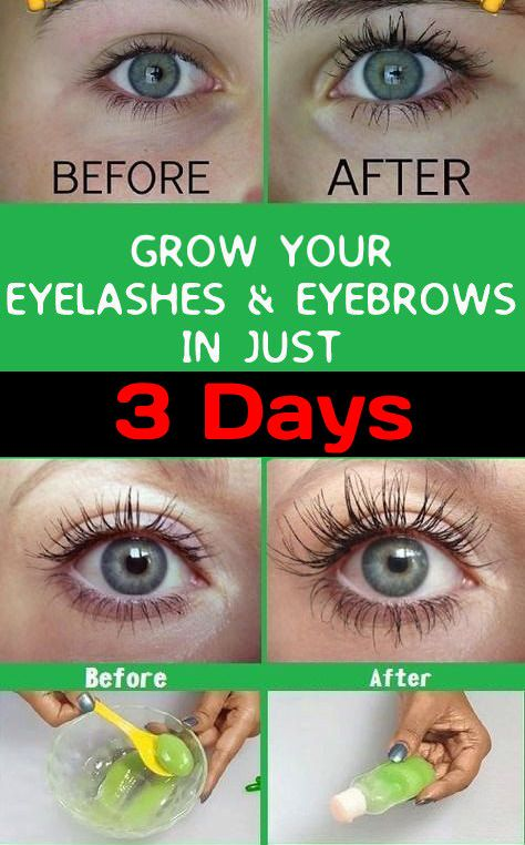 How to Grow Eyelashes and Eyebrows #diybeauty