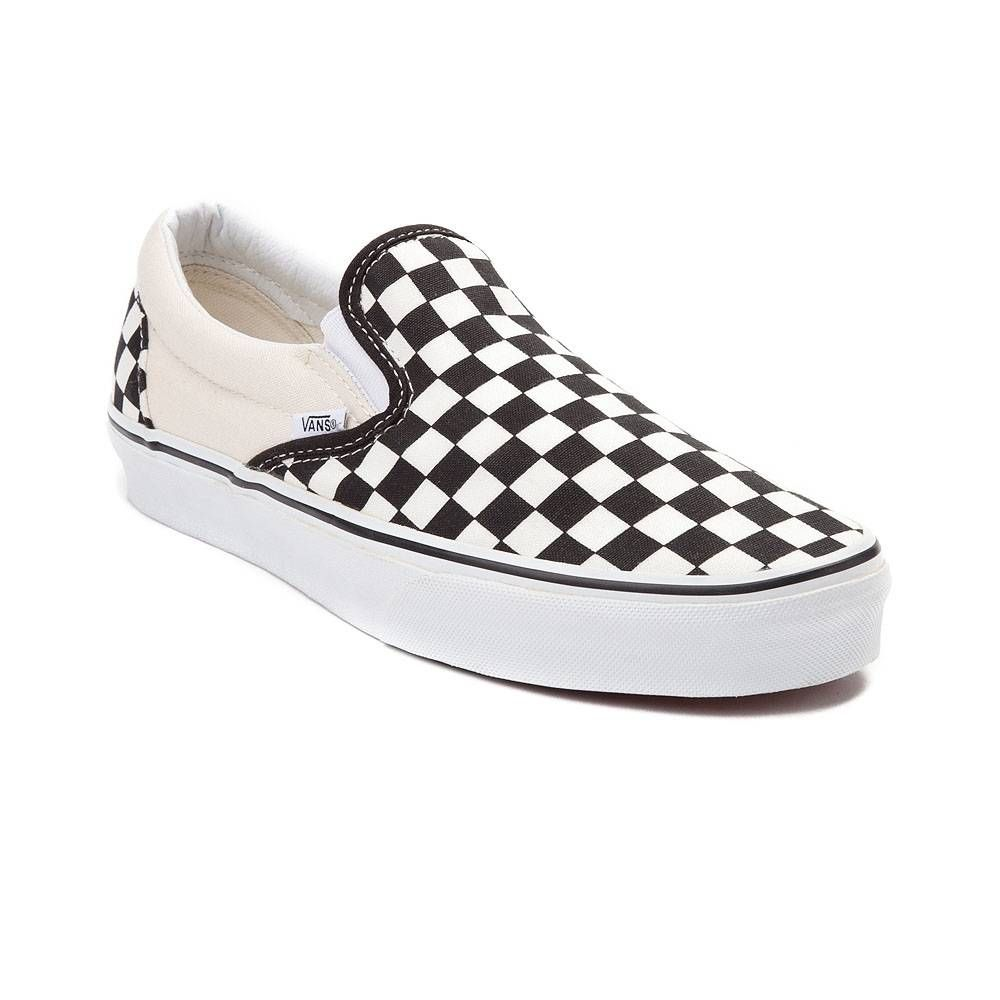 up-to-datestyling quality first enjoy big discount Vans Slip On Checkerboard Skate Shoe - Black / White ...