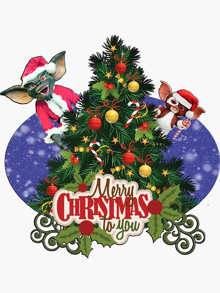 Merry Christmas Gremlins Ghost Movies Cute Pokemon