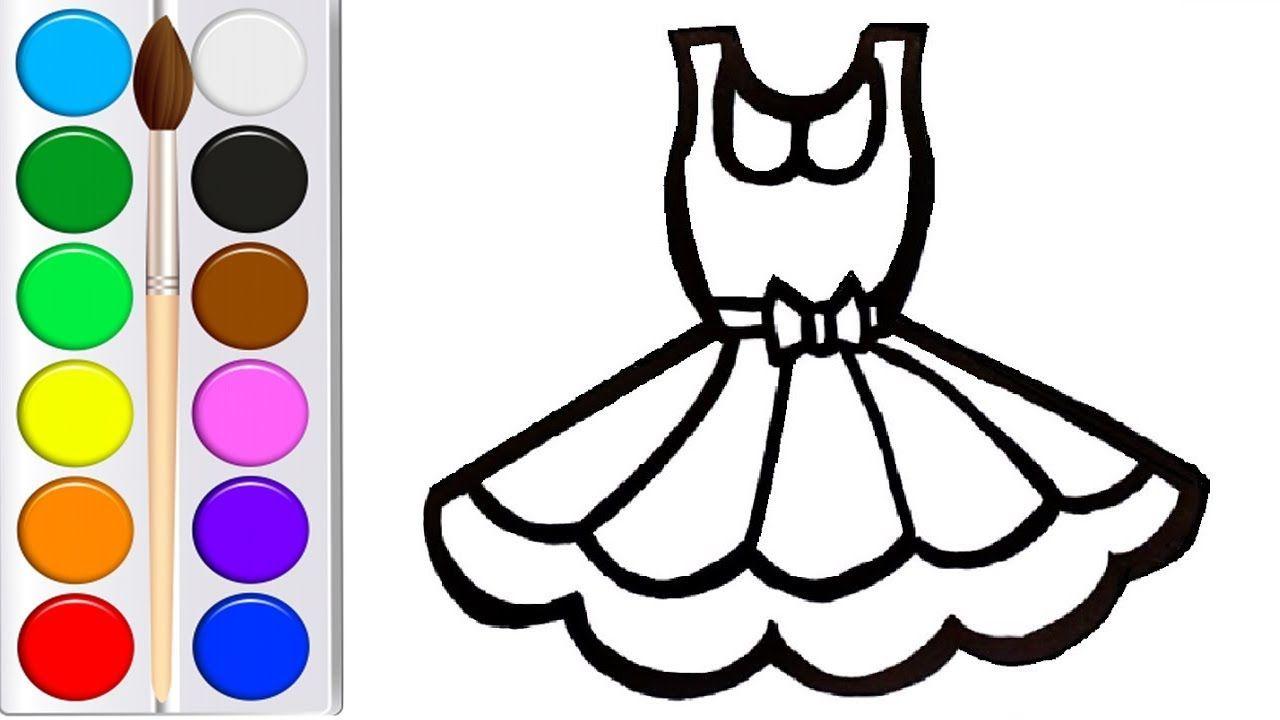 Как нарисовать ПЛАТЬЕ мультик раскраска ПЛАТЬЕ для детей ...