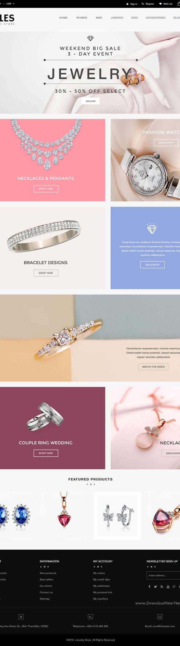 Zales beauty u jewelry diamond rings responsive prestashop theme