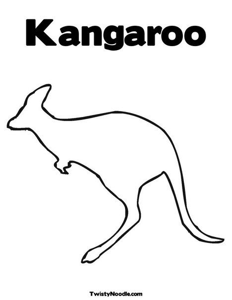 Kangaroo Coloring Page Kangaroo Drawing Kangaroo Art Aboriginal Dot Art