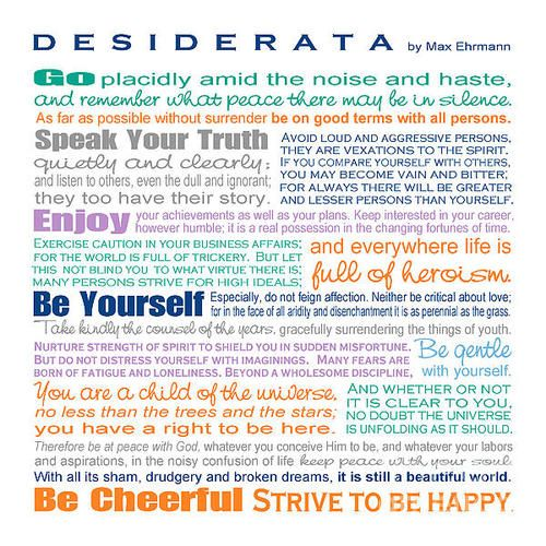 Desiderata - Color  Print By Ginny Gaura