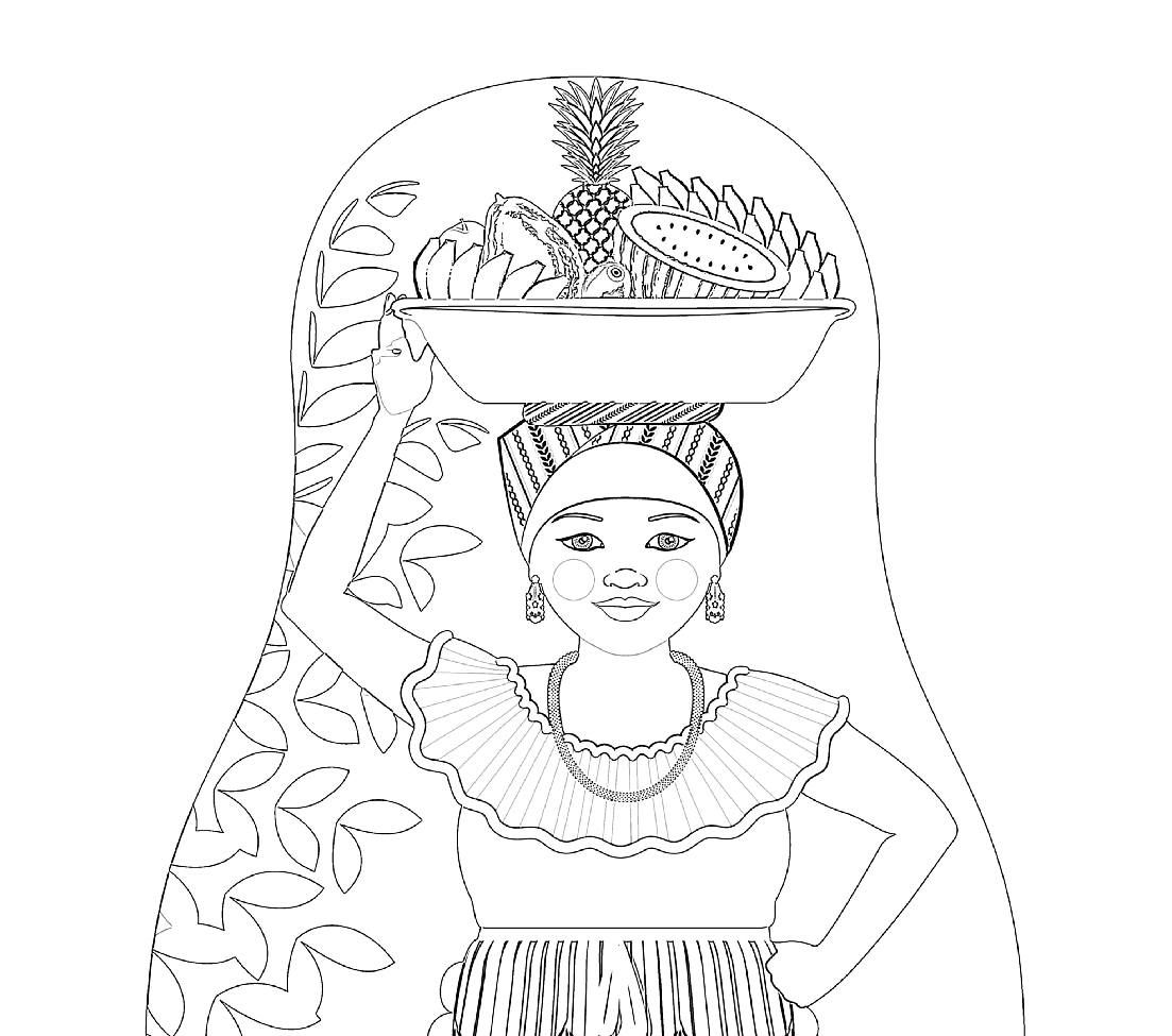 Pin By Omeletozeu On Coloring Book Alexis In 2020 Nesting Dolls Illustration Colombian Coloring Sheets