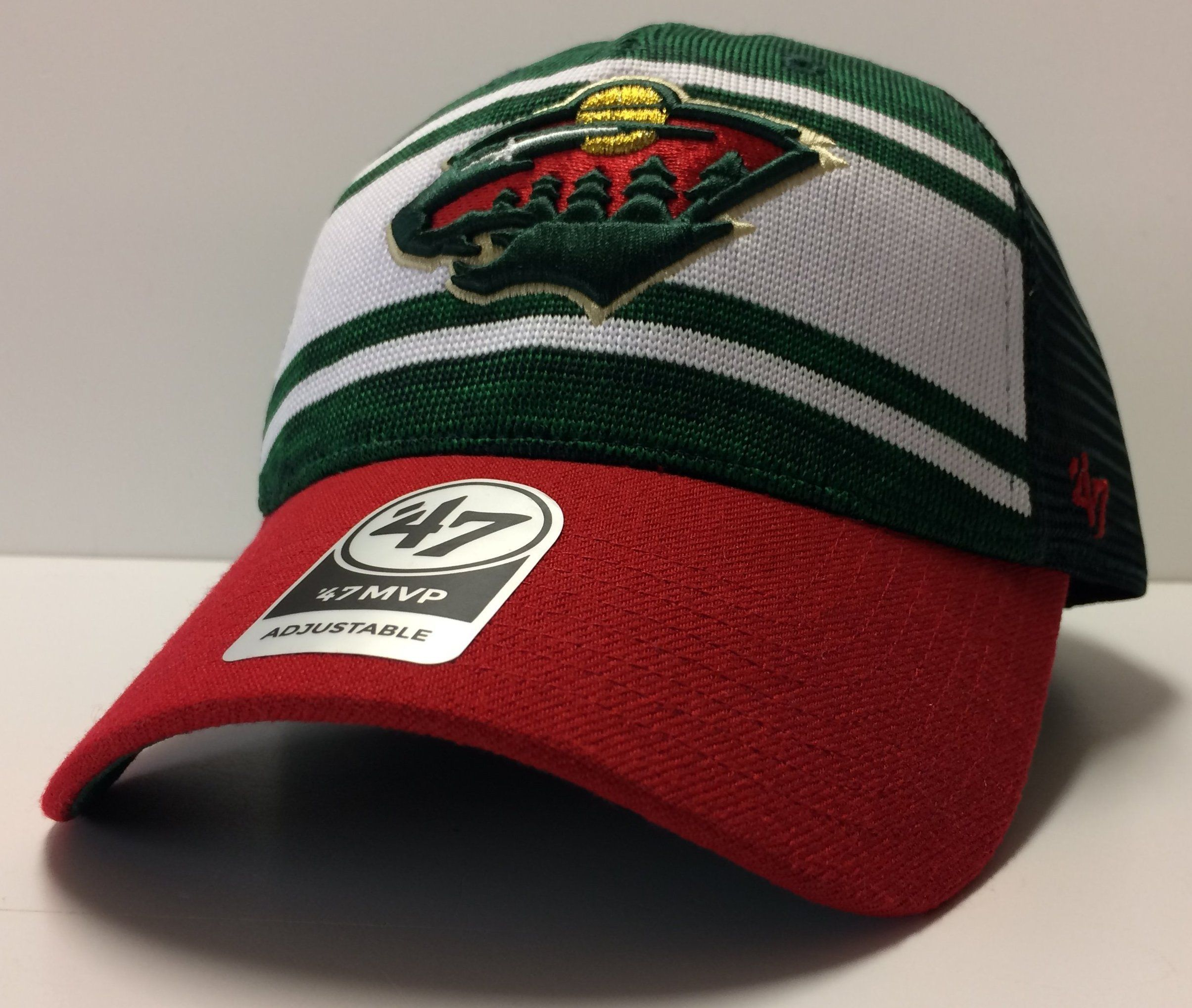 9fe4eb1689a Minnesota Wild  47 Brand NHL Power Play 47 MVP Snapback Adjustable Mesh  Back Hat Dad Cap Hockey