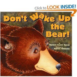 """Wonderful bear/hibernation book. Loud/ soft comparative, as well.... can work well with the song """"Grizzly Bear (a grizzly bear is sleeping in a cave, etc)"""" or """"Un ours noir, un ours noir, il dort dans une caverne""""..."""
