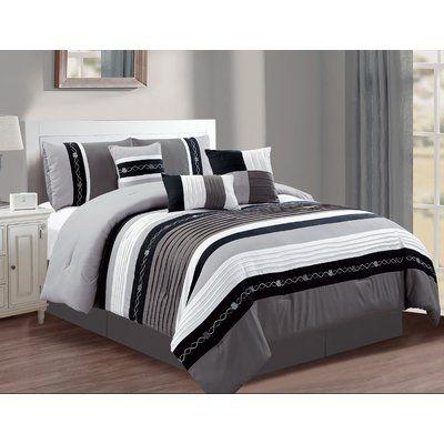 Winston Porter Woolery 7 Piece Comforter Set Size California King