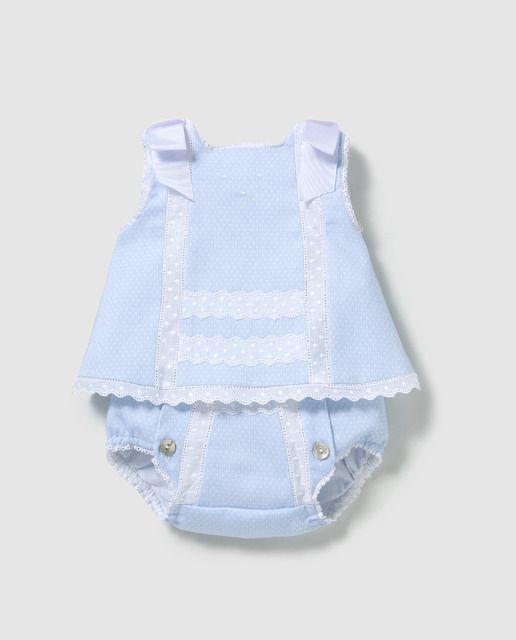 Faldón corto de bebé Dulces dos piezas  1ff05fec56e2