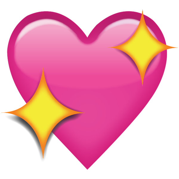 Sparkling Pink Heart Emoji - Add a romantic touch to your ...