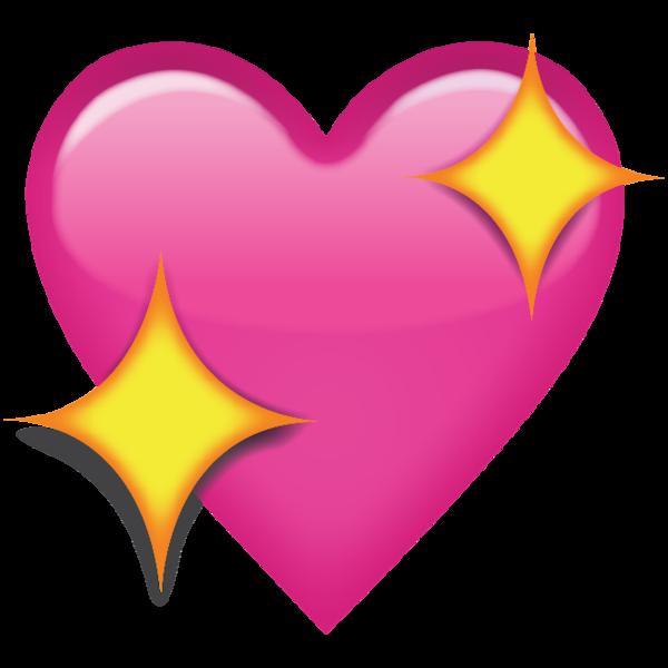 Sparkling Pink Heart Emoji Heart emoji, Pink heart emoji