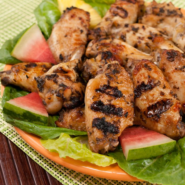 Recipe For Jerk BBQ'd Wings From Margaritaville Foods