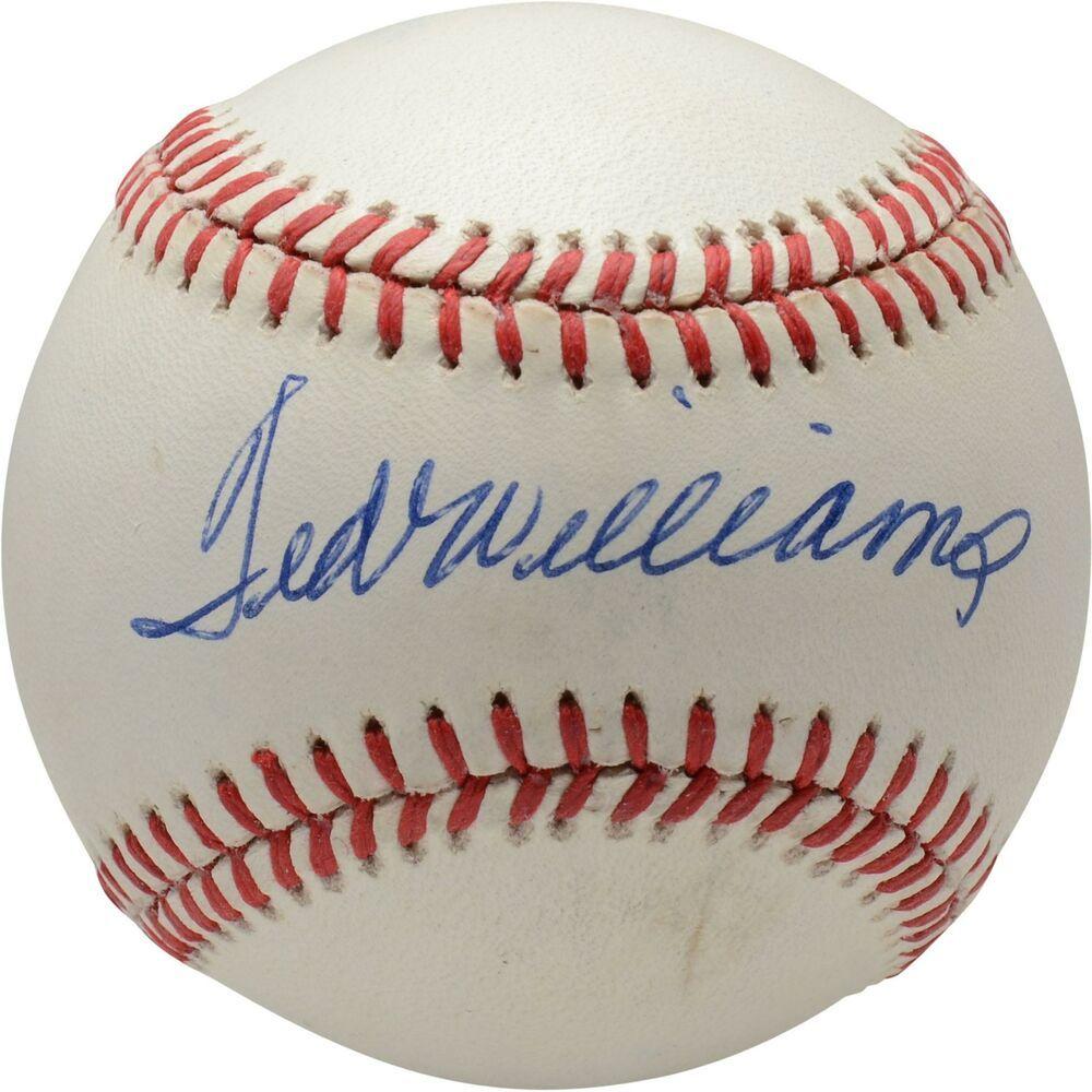 Autographed Ted Williams Red Sox Baseball Fanatics Authentic Coa Item 9223555 Sportsmemorabilia Autograph Baseball Ted Williams Baseball Vintage Baseball