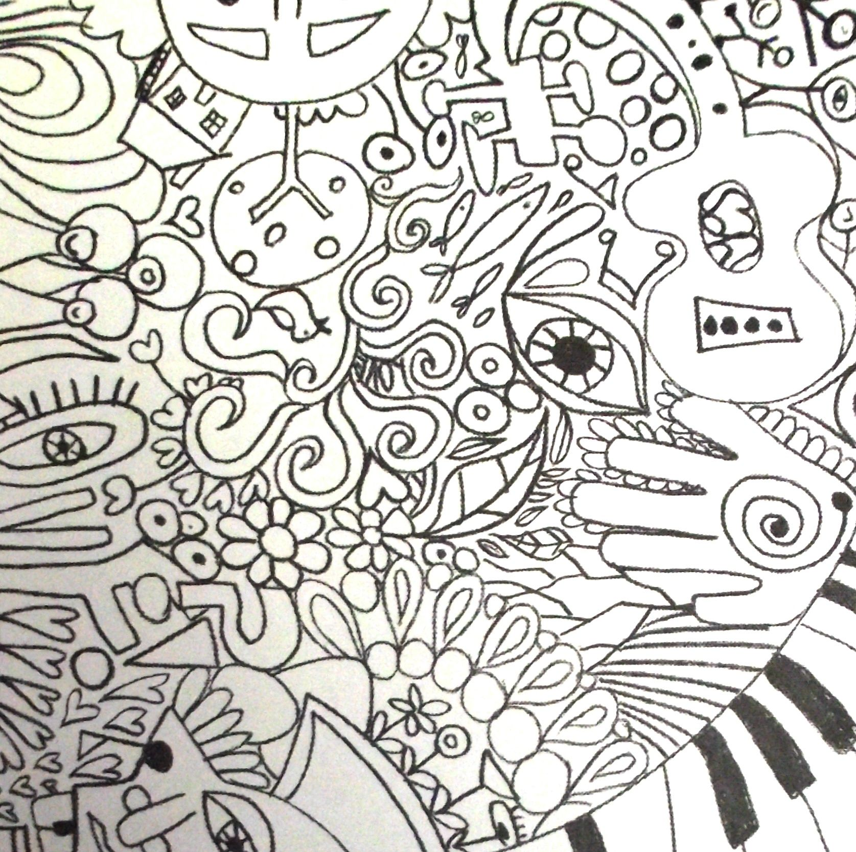 Trippy Coloring Pages | Rock Art Series — The Beatles | Coloring ...