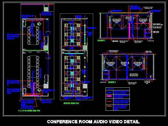 AutoCAD · Conference room Audio video detail design. Showing complete electrical wiring detail for installing projector  sc 1 st  Pinterest : autocad wiring - yogabreezes.com
