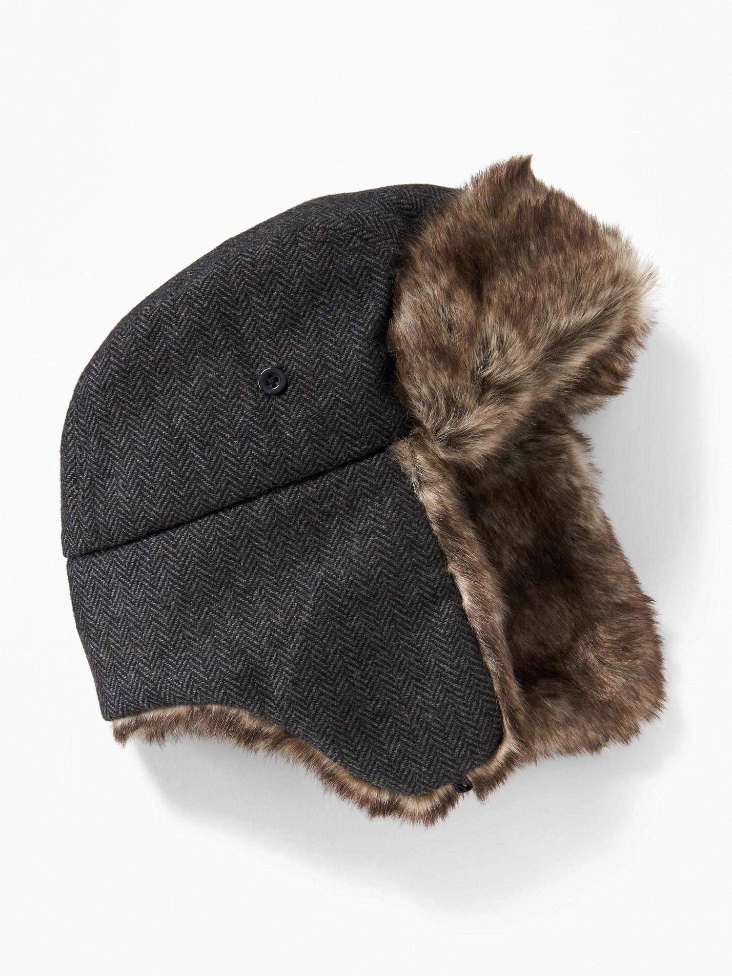 Faux-Fur Trim Trapper Hat for Boys  d47b2f935d7