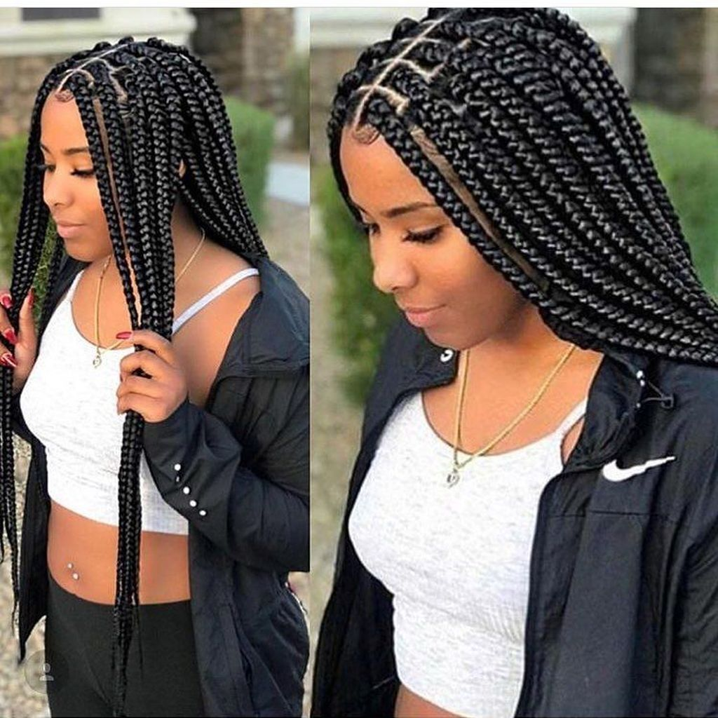 Pin By Raya Rucker On Coiffure Box Braids Hairstyles For Black Women Hair Styles Braided Hairstyles