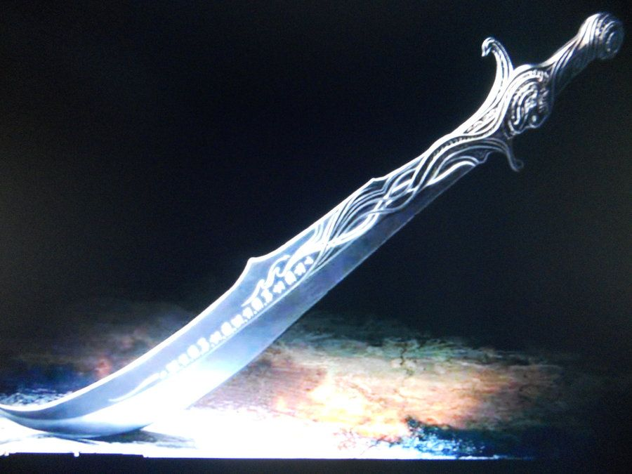 She thought she detected a low humming when the sword broke free and encountered the moon's rays.