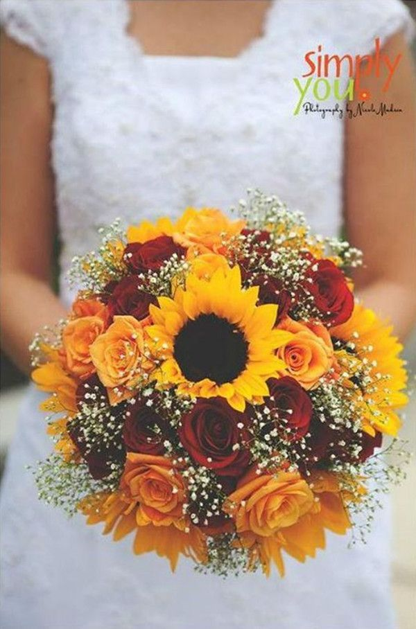 50 unique rustic fall wedding ideas wedding bouquet sunflowers 50 unique rustic fall wedding ideas wedding bouquet sunflowers and roses disneyweddingideas junglespirit Image collections