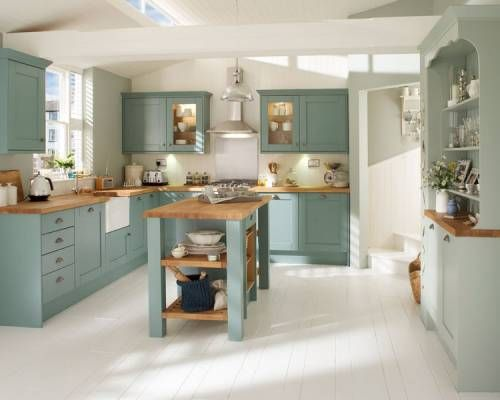 Tewkesbury hand painted howdens kitchen islands for Kitchen ideas howdens