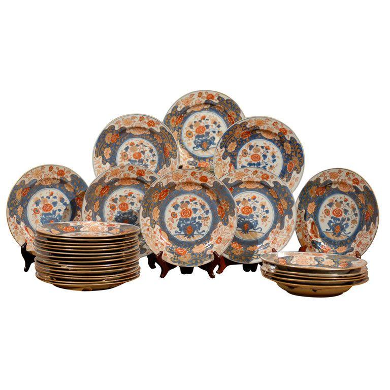 14 Chinese Imari Plates circa 1790  sc 1 st  Pinterest & 14 Chinese Imari Plates circa 1790 | Modern dinner plates Ware ...