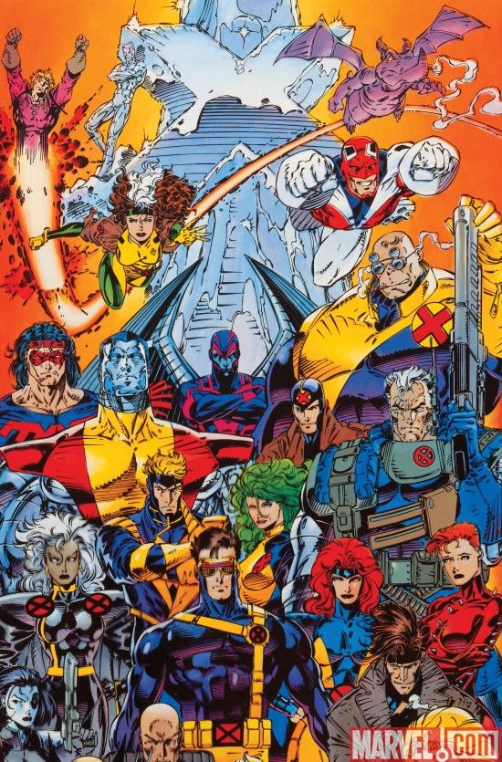 I Know This Is From The 90 S A Creative Wasteland For Comics But These Are The Characters Who Made Me Fall In Love With The Medium Jim Lee Art Marvel X