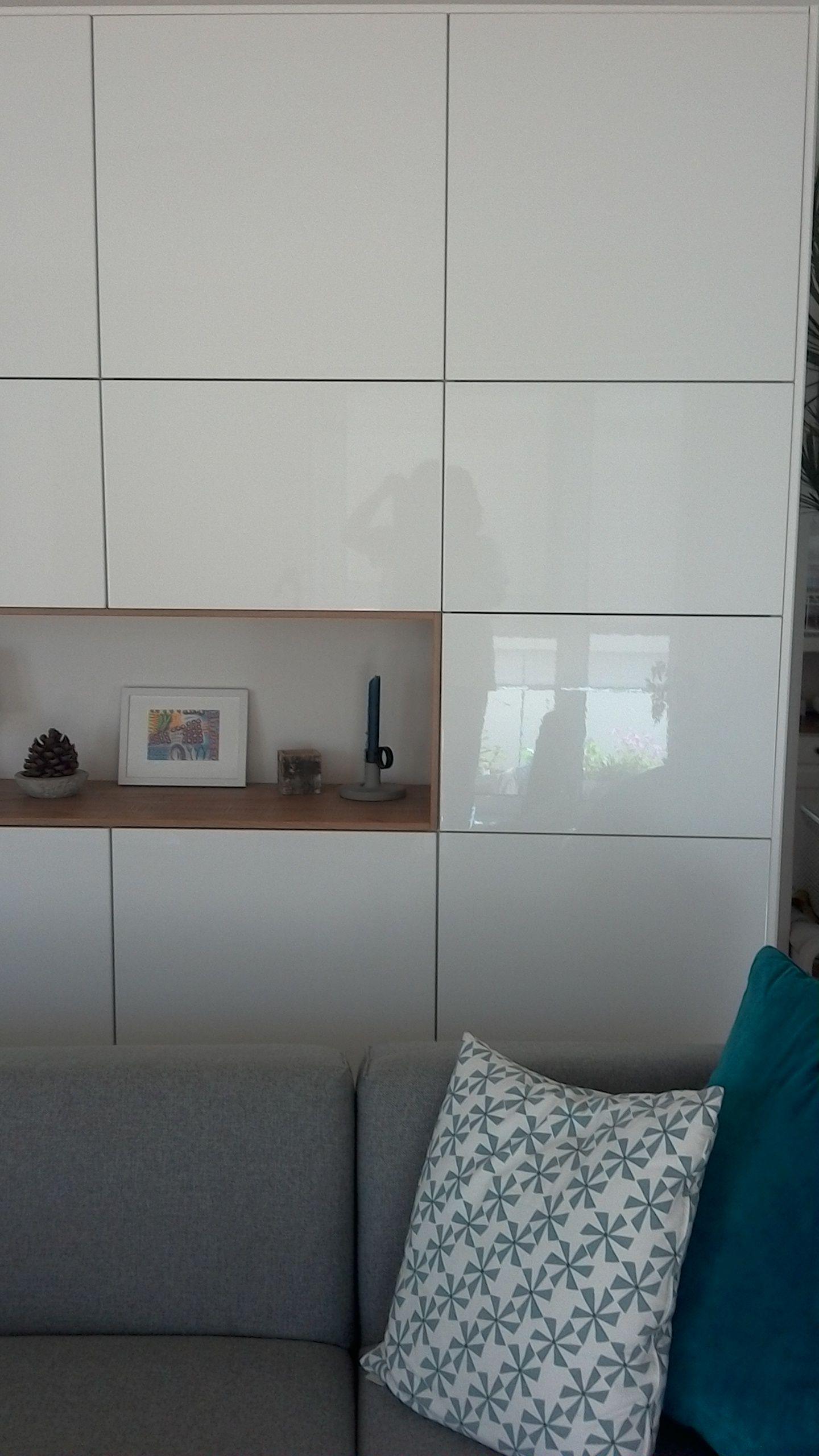 Ikea Method Ringhult plus Hyttan als Wohnzimmerschrank | Potential ...