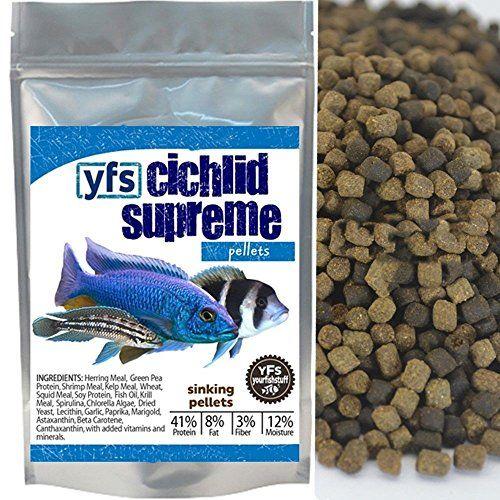 Yfs Cichlid Supreme Sinking Pellets 30mm Bulk Aquarium Fish Food 14 Pound Want To Know More Click On The Imag Aquarium Fish Food Fish Recipes Food Animals
