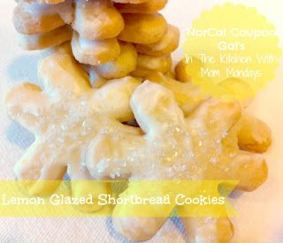 NorCal Coupon Gals In The Kitchen With Mom Mondays Lemon Glazed Shortbread Cookies