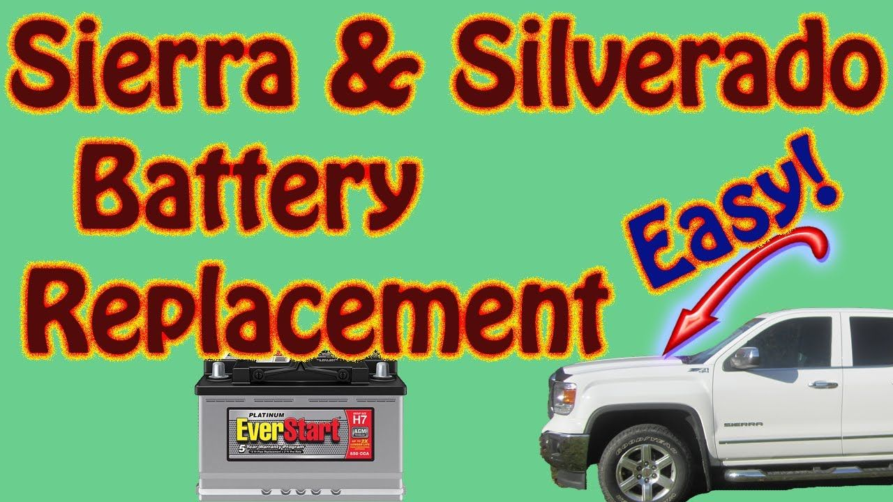 2014 2018 GMC Sierra \ Chevy Silverado Battery
