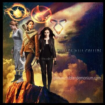Multi-fandom love: Divergent (Tris), The Hunger Games (Katniss), and The Mortal Instruments (Clary)