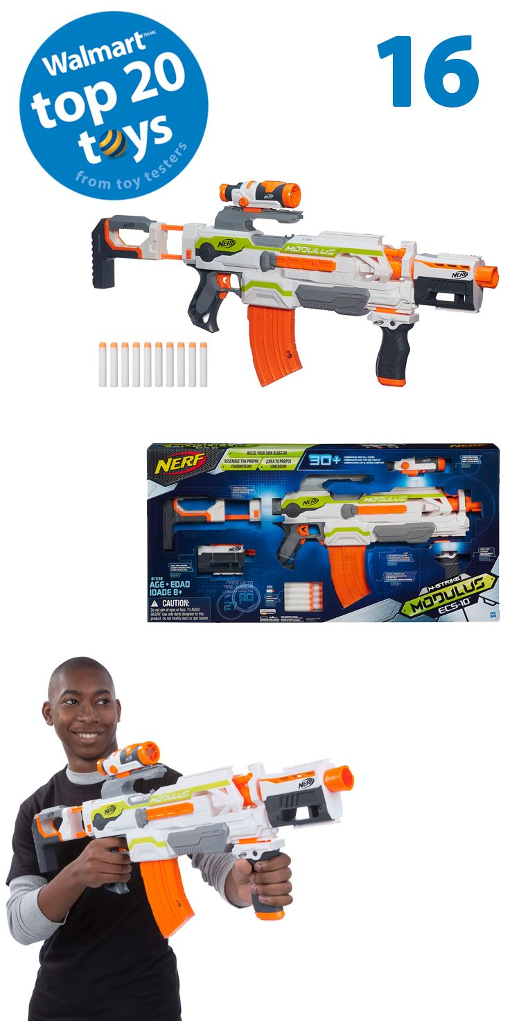 NERF Modulus ECS-10 Blaster: Ready, Aim, and blast away with the