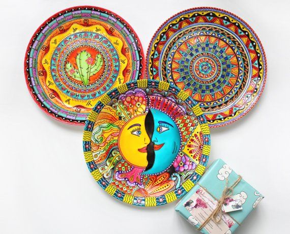 Mexican Set Of Decorative Plates For Wall Decor Products