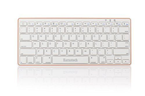 Amazon.com: Karnotech 2.4G Bluetooth Wireless Rechargeable Keyboard Ultra Slim Portable for Windows, iOS, Android, Mac OS X (VMK-42 White): Computers & Accessories