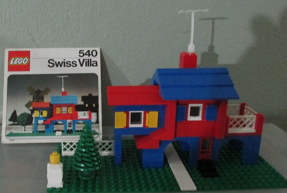 Vintage LEGO 540 Swiss Villa House Set With Original Instructions Lot